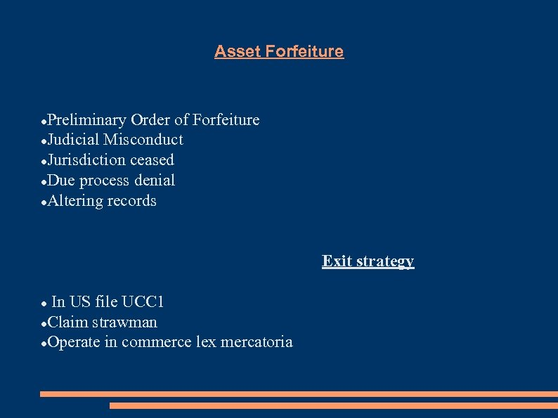 Asset Forfeiture Preliminary Order of Forfeiture Judicial Misconduct Jurisdiction ceased Due process denial Altering