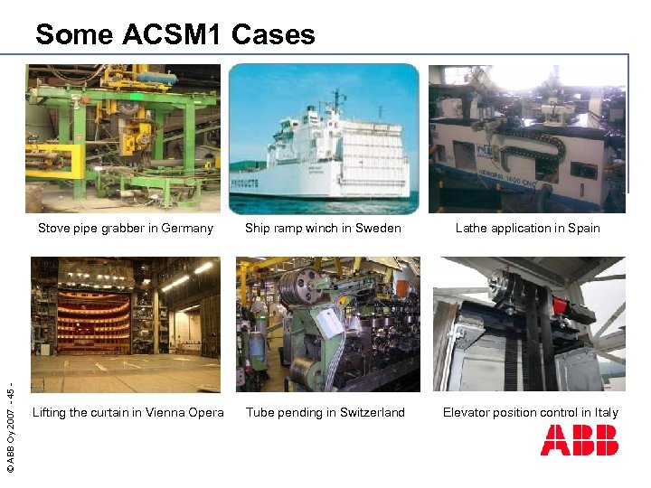 Some ACSM 1 Cases © ABB Oy 2007 - 45 - Stove pipe grabber