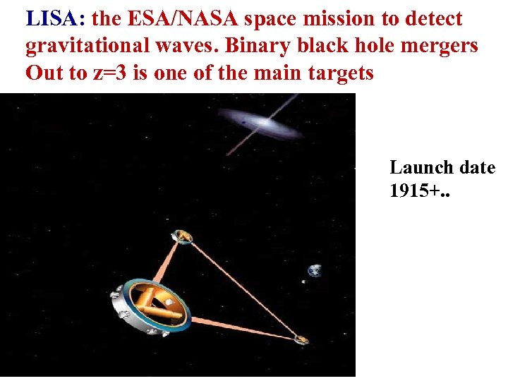 LISA: the ESA/NASA space mission to detect gravitational waves. Binary black hole mergers Out