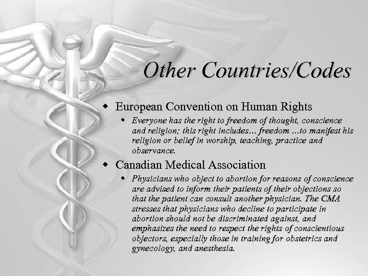 Other Countries/Codes w European Convention on Human Rights w Everyone has the right to