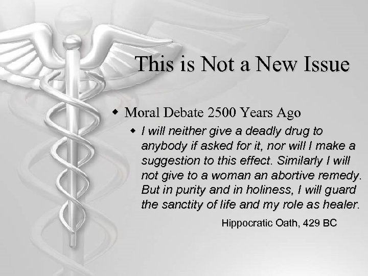 This is Not a New Issue w Moral Debate 2500 Years Ago w I