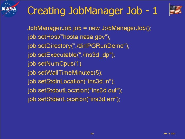 Creating Job. Manager Job - 1 Job. Manager. Job job = new Job. Manager.