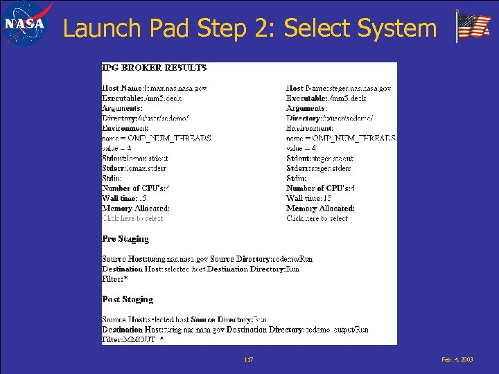 Launch Pad Step 2: Select System 117 Feb. 4, 2003