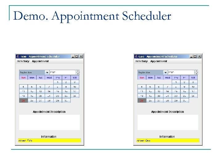 Demo. Appointment Scheduler
