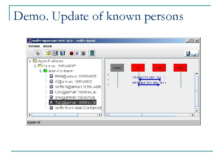 Demo. Update of known persons