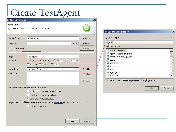 Create Test. Agent