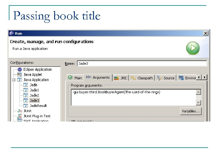Passing book title