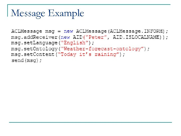 Message Example