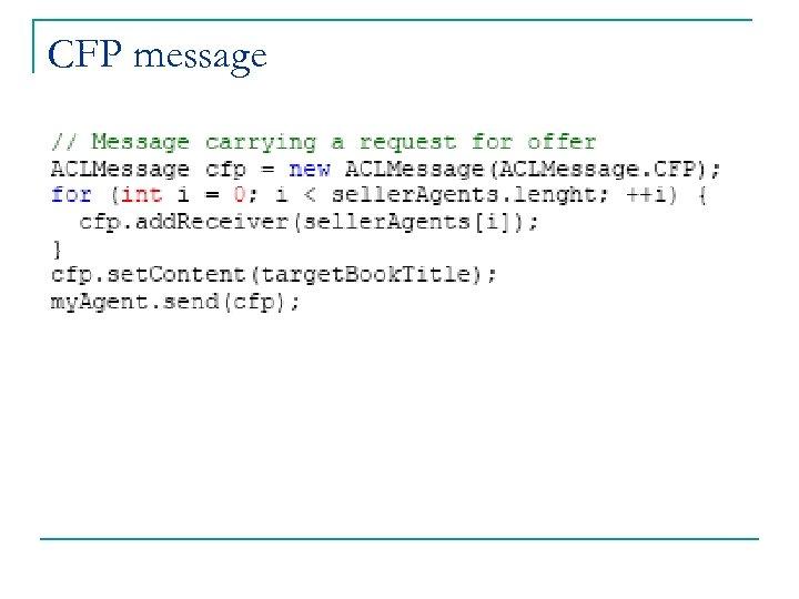 CFP message