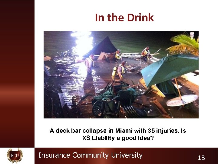 In the Drink A deck bar collapse in Miami with 35 injuries. Is XS