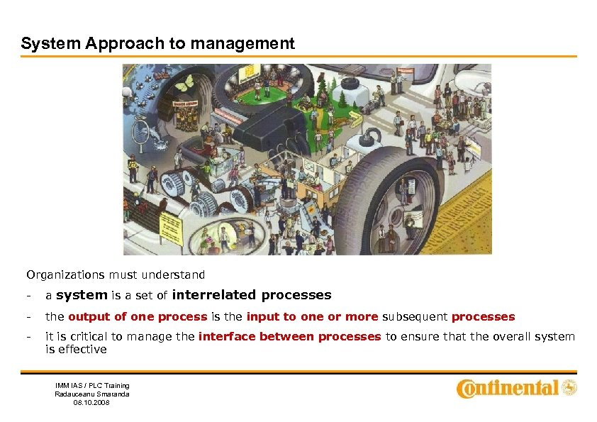 System Approach to management Organizations must understand - a system is a set of