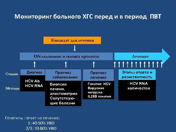 Мониторинг больного ХГС перед и в период ПВТ Кандидат для лечения Обследование и оценка