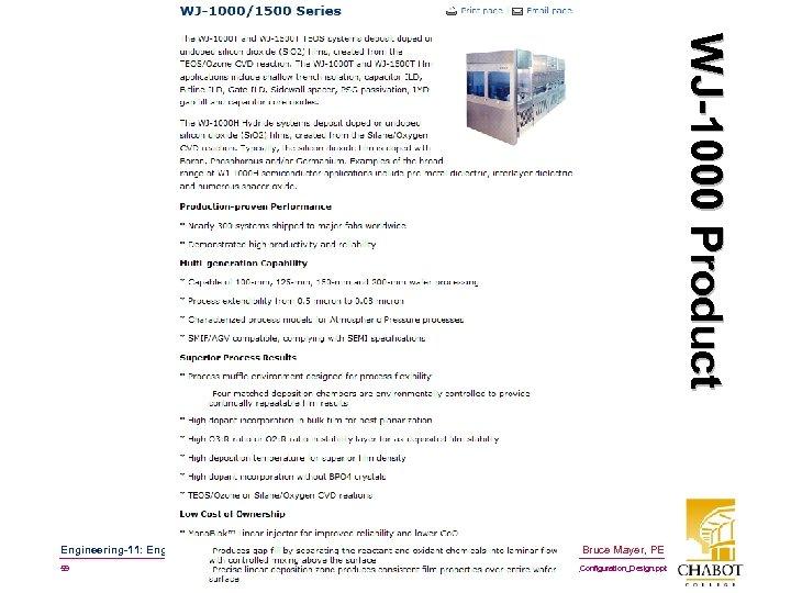 W J -1 0 0 0 P r o d u c t Engineering-11: