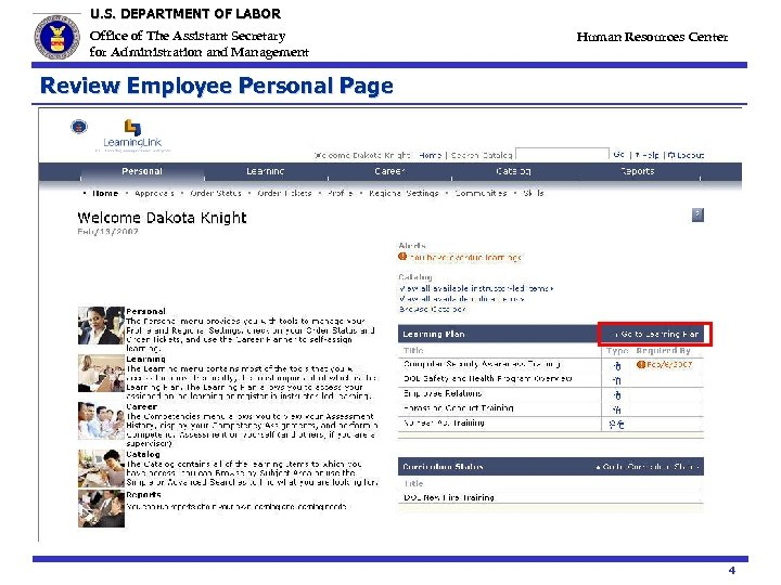 U. S. DEPARTMENT OF LABOR Office of The Assistant Secretary for Administration and Management