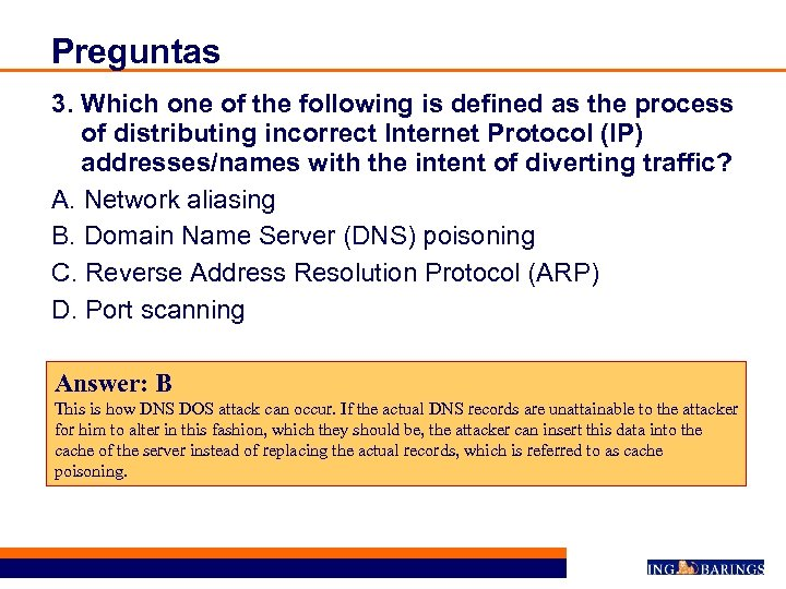 Preguntas 3. Which one of the following is defined as the process of distributing