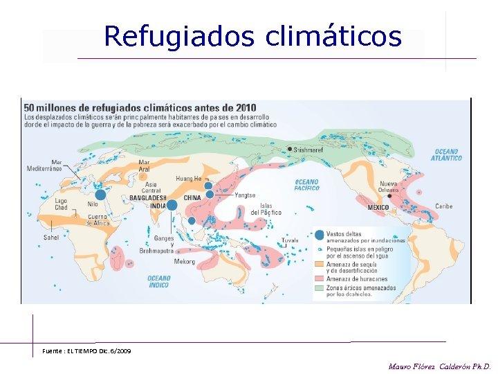 Refugiados climáticos Fuente : EL TIEMPO Dic. 6/2009 Mauro Flórez Calderón Ph. D.