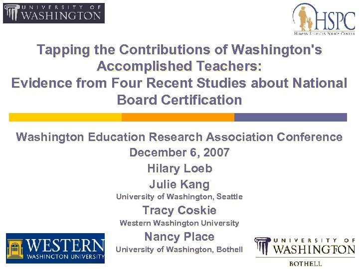 Tapping the Contributions of Washington's Accomplished Teachers: Evidence from Four Recent Studies about National