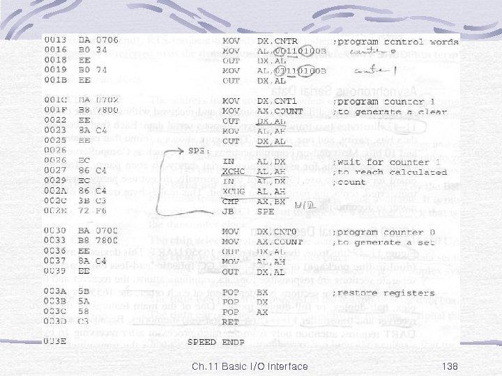 Ex. 11 -27 Ch. 11 Basic I/O Interface 138