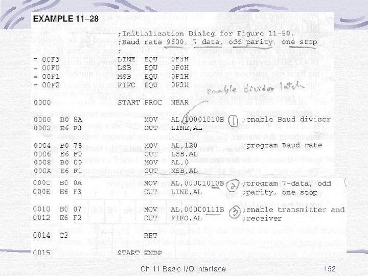Ex. 11 -28 Ch. 11 Basic I/O Interface 152
