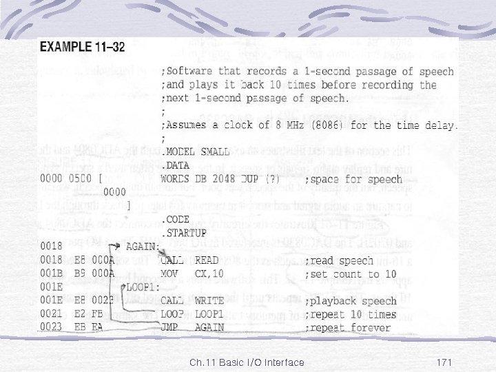 Ex. 11 -32 Ch. 11 Basic I/O Interface 171