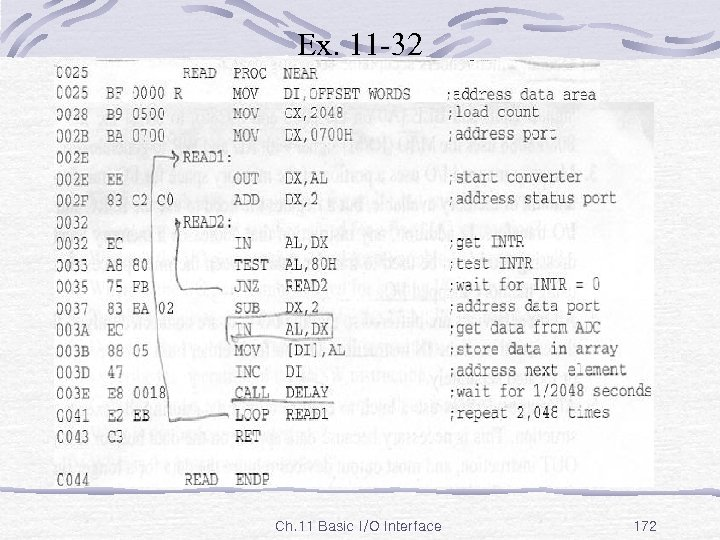 Ex. 11 -32 Ch. 11 Basic I/O Interface 172