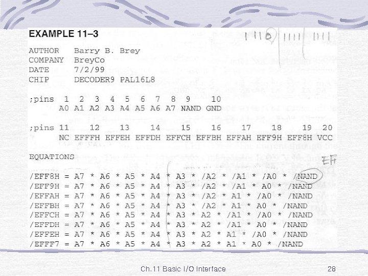 Ex. 11 -3 Ch. 11 Basic I/O Interface 28