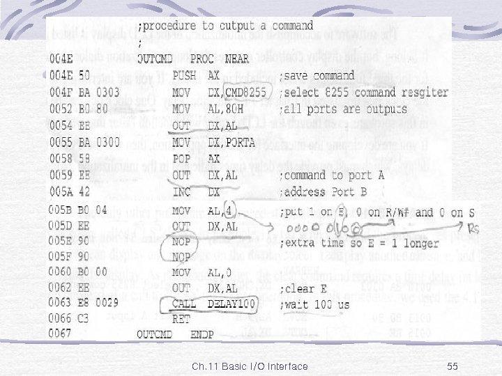 Ex. 11 -10 Ch. 11 Basic I/O Interface 55