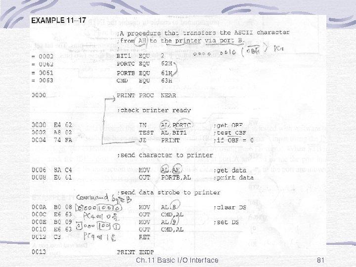 Ex. 11 -17 Ch. 11 Basic I/O Interface 81
