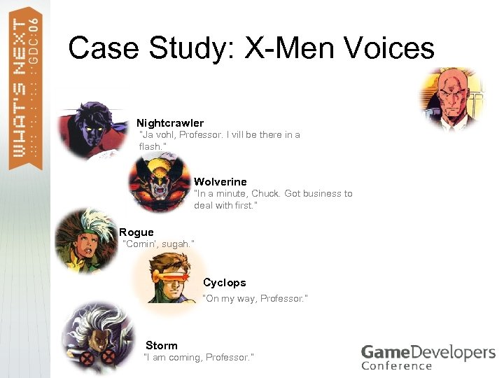 "Case Study: X-Men Voices Nightcrawler ""Ja vohl, Professor. I vill be there in a"