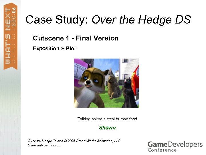Case Study: Over the Hedge DS Cutscene 1 - Final Version Exposition Plot Talking