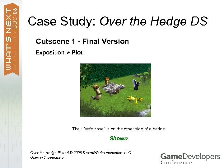 Case Study: Over the Hedge DS Cutscene 1 - Final Version Exposition Plot Their