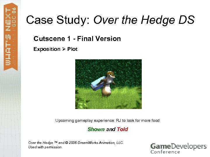Case Study: Over the Hedge DS Cutscene 1 - Final Version Exposition Plot Upcoming