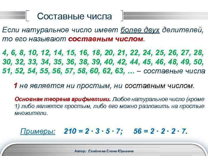 картинки составные числа совсем