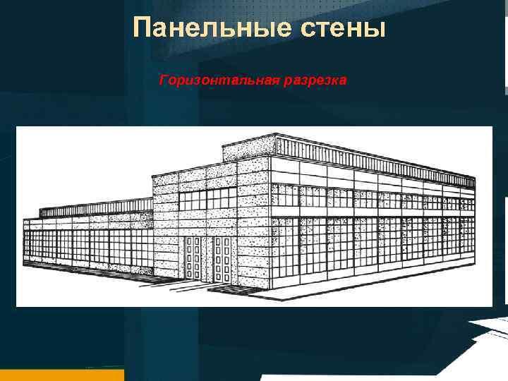 Панельные стены Горизонтальная разрезка