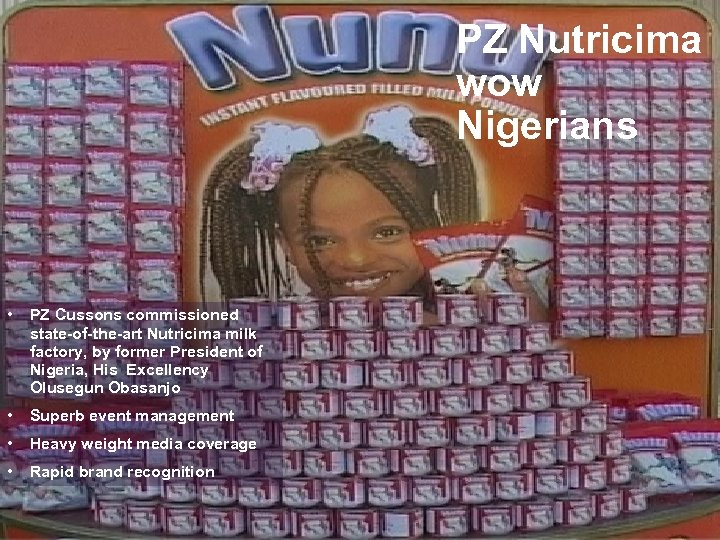 PZ Nutricima wow Nigerians • PZ Cussons commissioned state-of-the-art Nutricima milk factory, by former