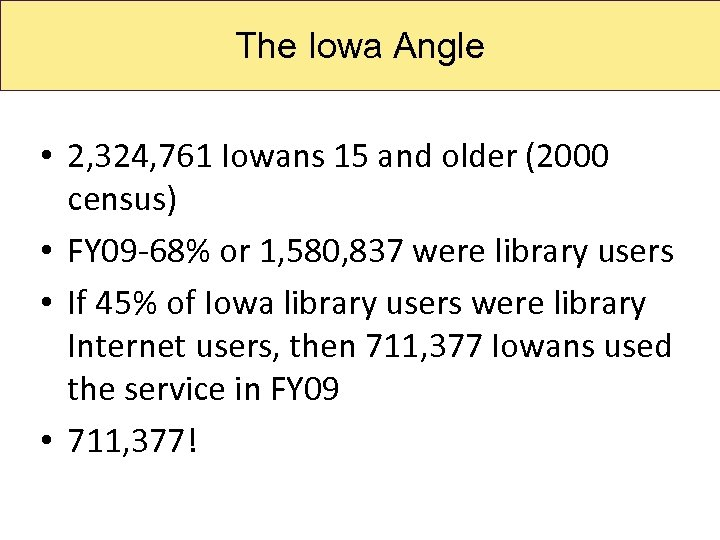 State Library. Angle The Iowa of Iowa • 2, 324, 761 Iowans 15 and