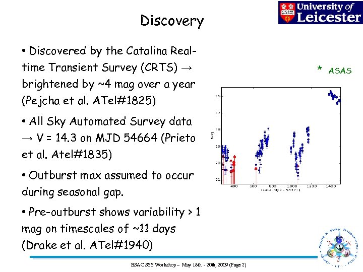 Discovery • Discovered by the Catalina Realtime Transient Survey (CRTS) → brightened by ~4