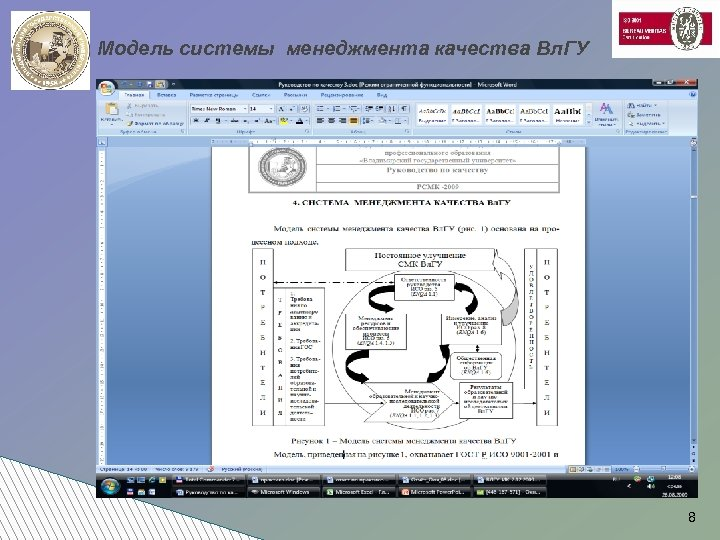 Модель системы менеджмента качества Вл. ГУ 8