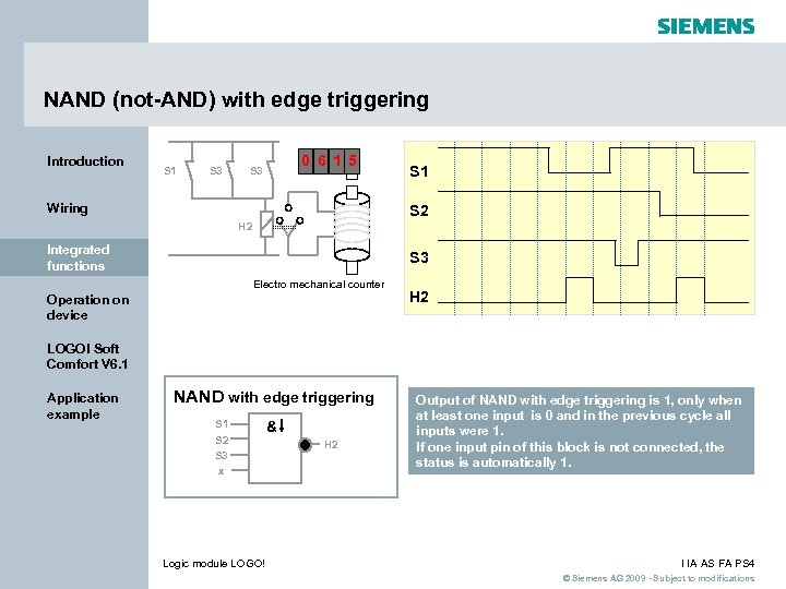NAND (not-AND) with edge triggering Introduction S 1 S 3 0 6 1 5
