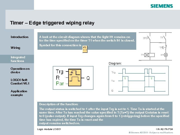 Timer – Edge triggered wiping relay Introduction Wiring A look at the circuit diagram