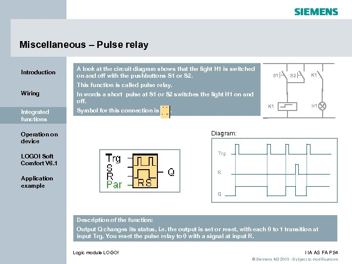 Miscellaneous – Pulse relay Introduction A look at the circuit diagram shows that the