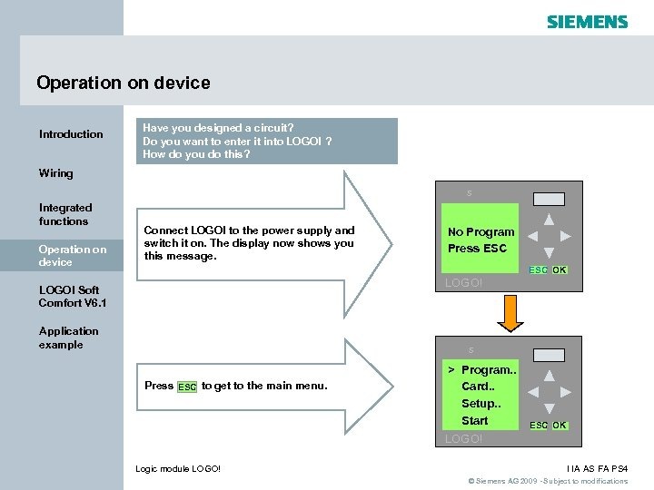 Operation on device Introduction Have you designed a circuit? Do you want to enter