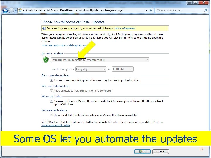 Some OS let you automate the updates 17 Copyright 2012 by Janson Industries