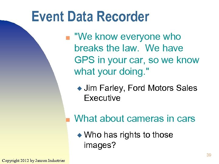 Event Data Recorder n
