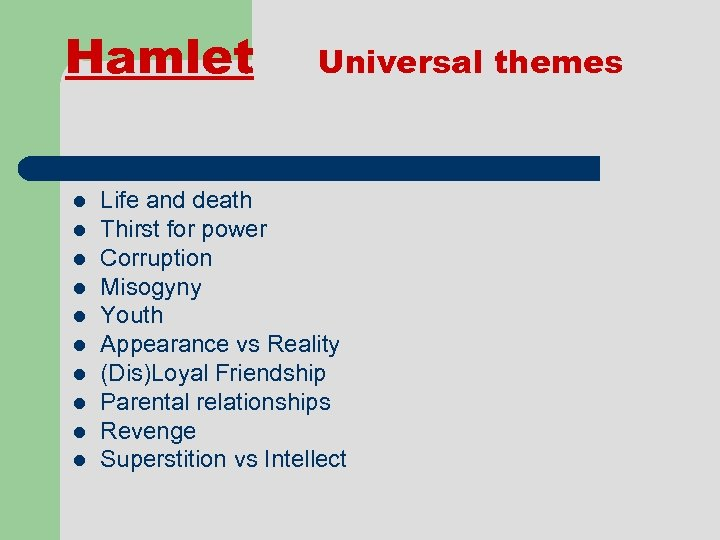 Shakespeare s Life and Plays The tragedy of Hamlet