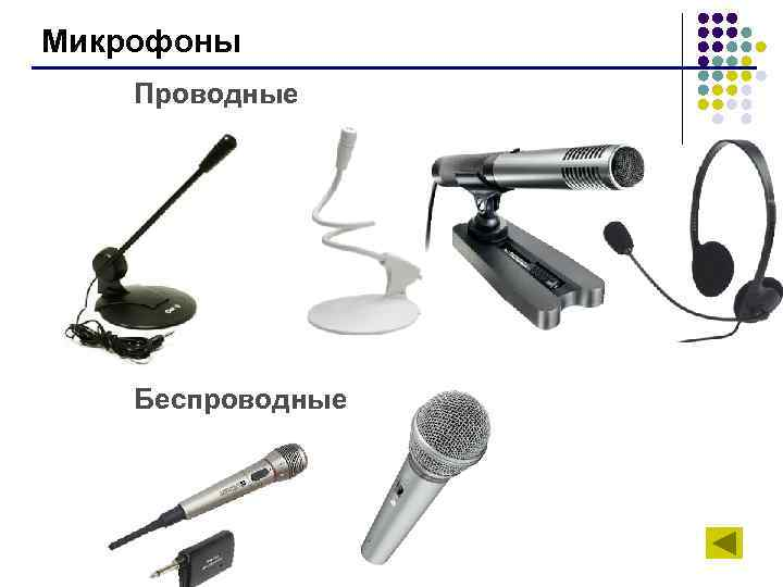 Микрофоны Проводные Беспроводные