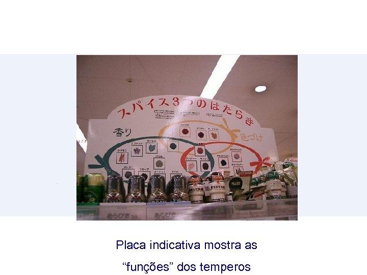 """Placa indicativa mostra as """"funções"""" dos temperos"""