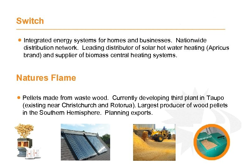 Switch · Integrated energy systems for homes and businesses. Nationwide distribution network. Leading distributor