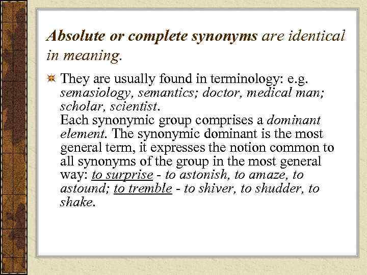 absolute synonym english