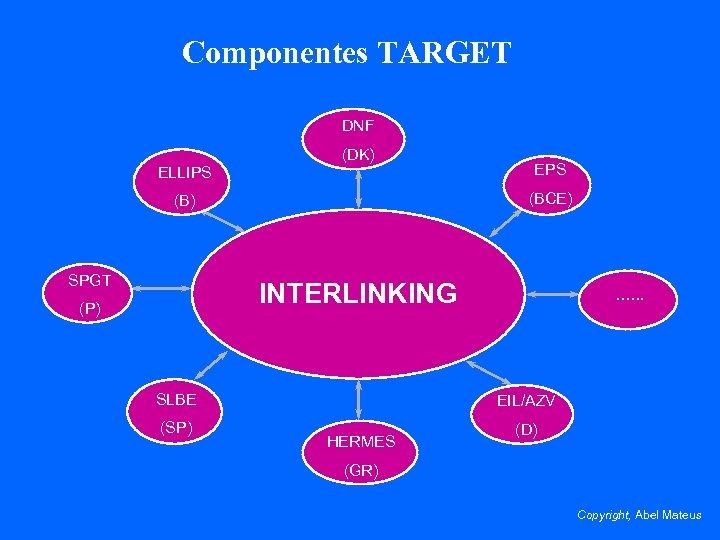 Componentes TARGET DNF ELLIPS (DK) (BCE) (B) SPGT EPS INTERLINKING (P) SLBE (SP) ….